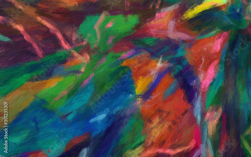 Obraz Background pattern for brochure cover, banner, postcard, flyer, poster or textile and fabric print. Template for creative wallpaper or graphic design artwork. Abstract digital painting art. - fototapety do salonu