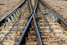Two Railway Tracks Converge In...