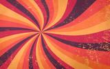 retro starburst sunburst wzór tła i grunge teksturowane vintage jesienna paleta kolorów burgundowego czerwonego różowego brzoskwiniowego pomarańczowego żółtego i fioletowego brązu w spiralnym lub wirowanym promieniowym pasiastym stylu