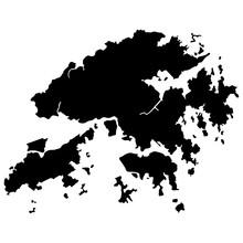 Hong Kong Map Vector Illustration Eps 10