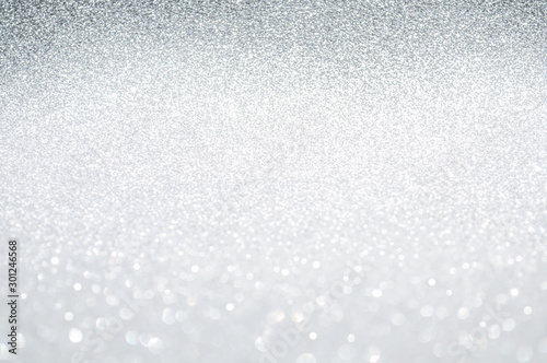Fotomural  Abstract bokeh white,light grey,sliver colors de focused circular background