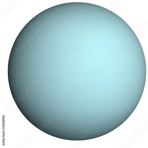 Foto High detailed Uranus Planet of solar system isolated