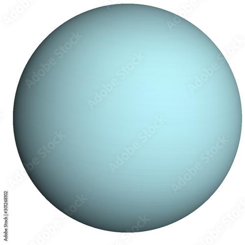 High detailed Uranus Planet of solar system isolated Fotobehang