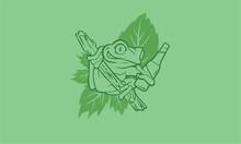 Drunken Frog With A Beer