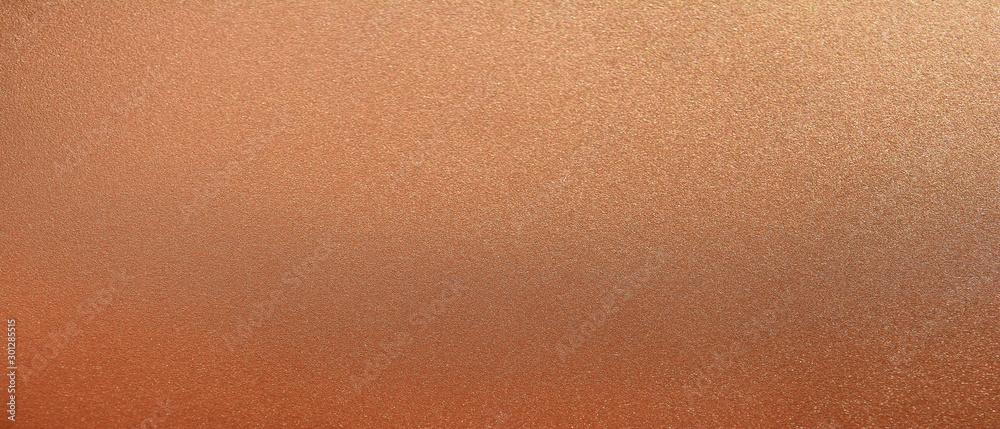 Fototapeta Panorama bronze texture background. Panoramic shiny smooth bronz