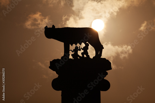 Capitoline Wolf in Rome, Lazio, Italy Fototapeta