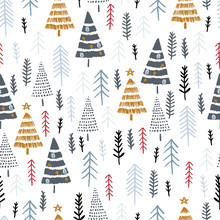 Winter Seamless Pattern With C...