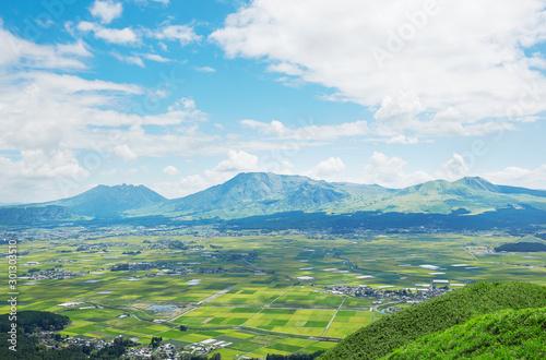 Fototapete - 阿蘇 大観峰からの眺め