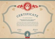 Christmas Beige Certificate Wi...