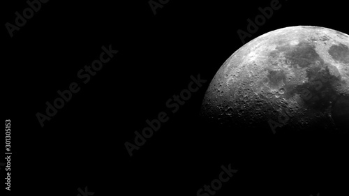 Obraz Close up of half moon texture - fototapety do salonu
