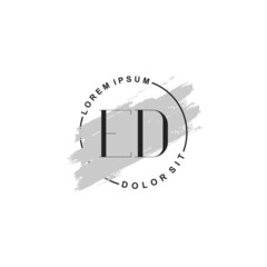 Fototapeta na wymiar Initial letter ED beauty fashion, make up logo
