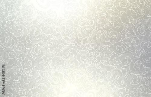 Cuadros en Lienzo  Light silver loops pattern