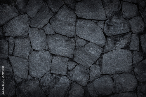 Fotomural gray stone wall texture background