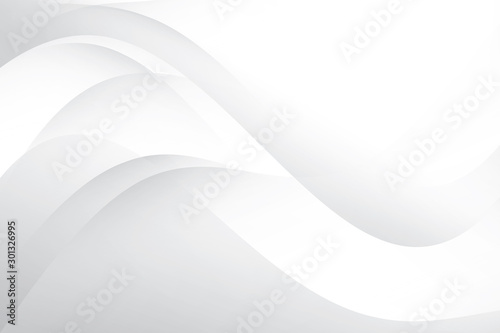 Fototapety, obrazy: Abstract geometric white and gray color background. Vector, illustration.