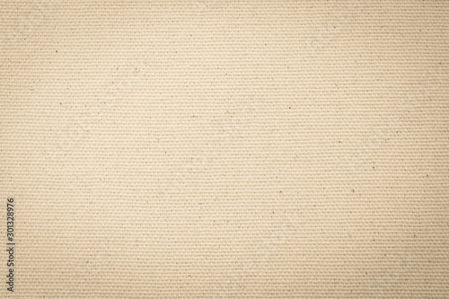 Obraz na plátně  Hessian sackcloth woven texture pattern background in light old cream sepia brow