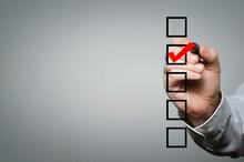 Blank Checklist On The Whiteboard