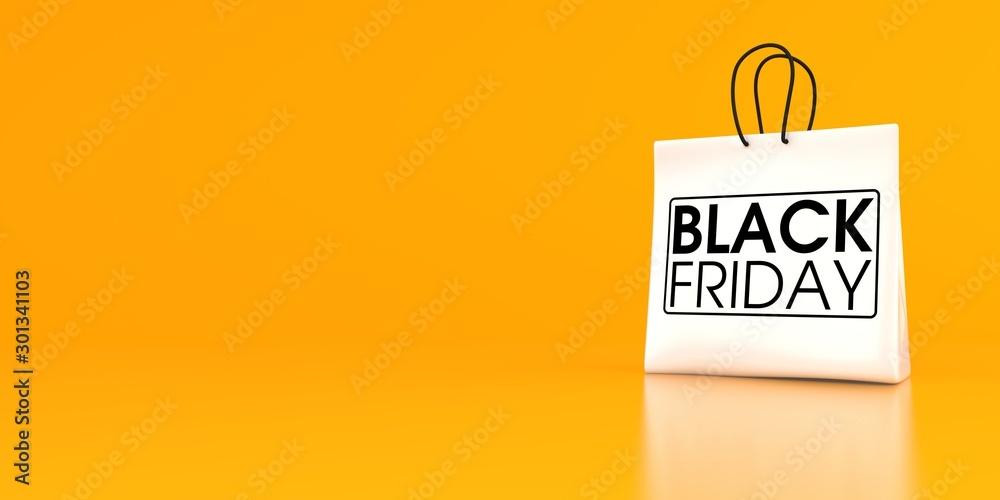 Fototapeta Black Friday Shopping Bag