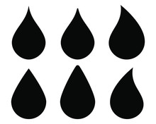 Water Drop Shape Icon Symbol S...