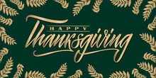 Happy Thanksgiving Lettering.....