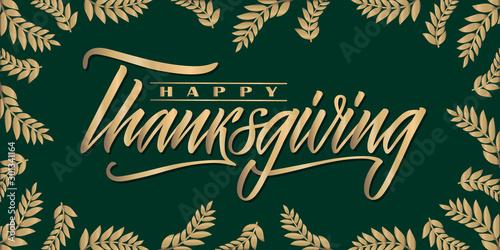 Happy Thanksgiving lettering Fototapet