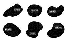 Dark Irregular Shapes Set. Trendy Minimal Templates For Presentations, Flyers, Apps And Websites.