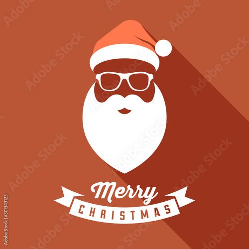 Fotografía Vector Santa face with hats, mustache and beards
