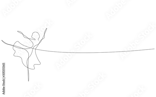 Photo Ballet dancer, ballerina silhouette vector illustration