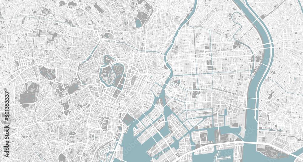 Szczegółowa mapa Tokio, Japonia <span>plik: #301353337 | autor: MetroMaps</span>