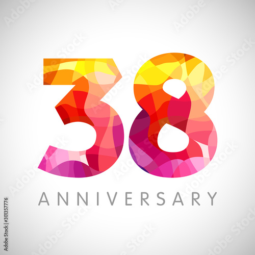 Papel de parede  38 th anniversary numbers