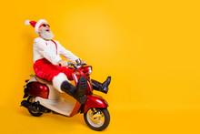 Full Body Photo Of Crazy Santa...
