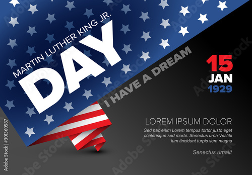 Martin Luther King jr. day poster template Wallpaper Mural