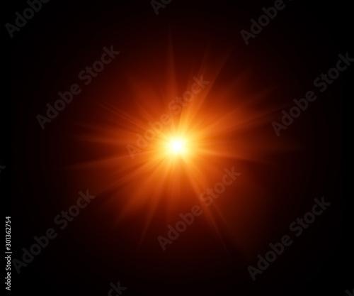 Fotografie, Obraz Hintergrund mit Schtalenden Licht.