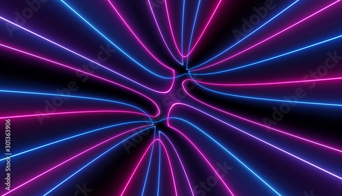neon blue pink curvy futuristic abstract galaxy ultraviolet curvy neuron lines laser scientific Sci-Fi high resolution abstract black background mobile apps web and social media