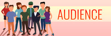 Audience People Concept Banner. Cartoon Illustration Of Audience People Vector Concept Banner For Web Design