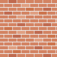 Brick Wall House Isolated Icon...