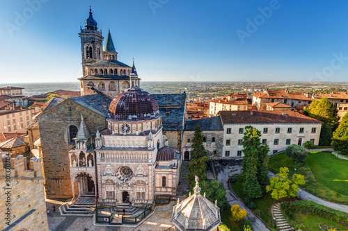 Fotografia Beautiful architecture of the Basilica of Santa Maria Maggiore in Bergamo, Italy
