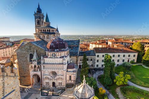 Obraz na plátně Beautiful architecture of the Basilica of Santa Maria Maggiore in Bergamo, Italy