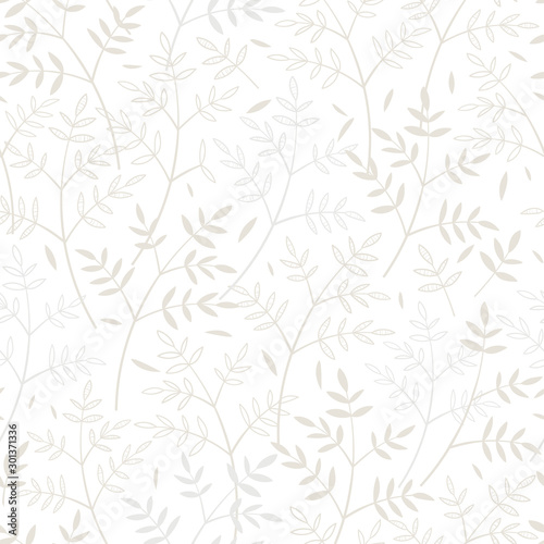 Tapety Beżowe elegant-hand-drawn-seamless-pattern-doodle-floral-great-for-textiles-banners-wallpaper-vector-design