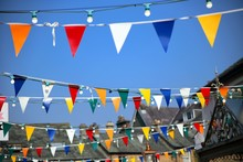 Bright Colorful Bunting Or Pen...