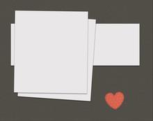 Blank Card With Heart