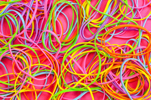 A Pile Of Neon Colored Elastic...