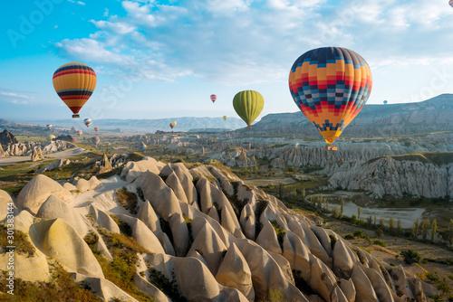 great tourist attraction of Cappadocia balloon flight Wallpaper Mural