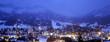 Leinwanddruck Bild - Italy, Veneto, Cortina Ampezzo at night