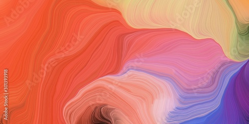 abstract design swirl waves. can be used as wallpaper, background graphic or texture. graphic illustration with tomato, light pastel purple and pale violet red colors