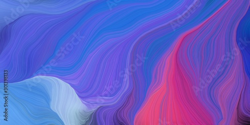 Fototapety, obrazy: abstract fractal swirl motion waves. can be used as wallpaper, background graphic or texture. graphic illustration with royal blue, mulberry  and moderate violet colors