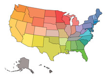 Blank Map Of USA, United State...