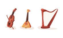 Various Types Of Stringed Nati...