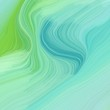 quadratic graphic illustration with aqua marine, moderate green and pastel green colors. abstract design swirl waves. can be used as wallpaper, background graphic or texture