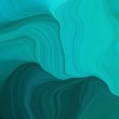 quadratic graphic illustration with dark cyan, light sea green and very dark blue colors. abstract colorful swirl motion. can be used as wallpaper, background graphic or texture