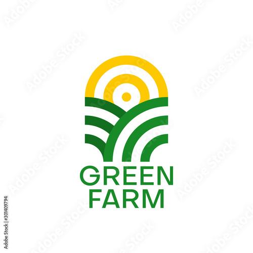 Fototapeta Farm logo design